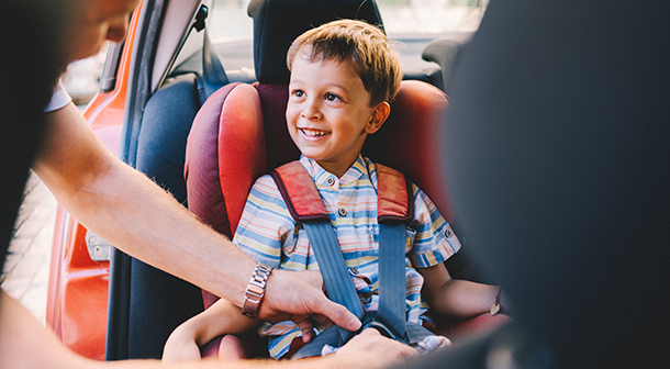Keep your kids safe in the right size car seat.